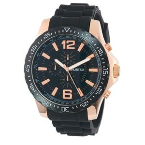 Unlisted Watch UL1202 Black silicone Rose gold
